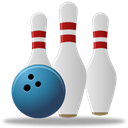 sport, Bowling Black icon