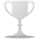 silver, trophy Black icon