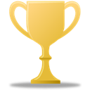 award, gold, trophy Black icon