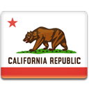 California, flag Crimson icon