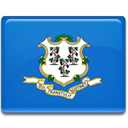 Connecticut, flag RoyalBlue icon