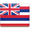 flag, hawaii Crimson icon