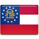 Georgia, flag Crimson icon
