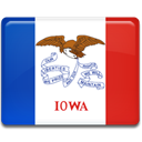 iowa, flag Crimson icon