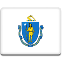 massachusetts, flag RoyalBlue icon