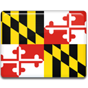 flag, maryland Gold icon