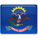 north, Dakota, flag MidnightBlue icon