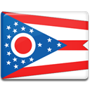 ohio, flag Crimson icon