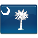 south, Carolina, flag MidnightBlue icon