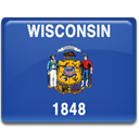 flag, wisconsin DarkSlateBlue icon
