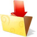 Downloads, Folder Khaki icon