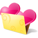 love, Folder, Favorite, Favourite, bookmarks Khaki icon