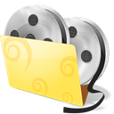 Movies, Folder, video Khaki icon