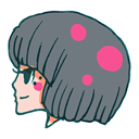 ll, Girl, user Gray icon