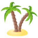 palm, Tree Black icon