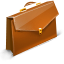 Briefcase, case, suitcase, career, job, travel SaddleBrown icon