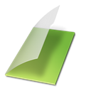 vide, documents, vert Black icon