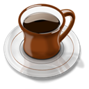 Coffee, cup, mug Black icon