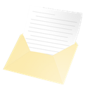 ouvert, Email Black icon