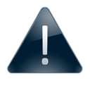 warning Black icon