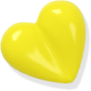 yellow, Heart, love Gold icon