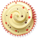muffin, cupcake, cake, Beige PaleGoldenrod icon