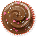 cupcake, cake, muffin, Brown SaddleBrown icon