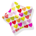 Hearts, star Snow icon