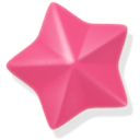 pink, star PaleVioletRed icon