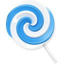 Candy, Blue, lollypop Black icon