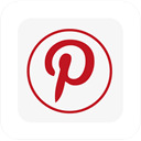 pinterest, square, Logo WhiteSmoke icon