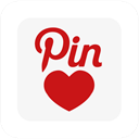 pinterest, square, Pinlove WhiteSmoke icon