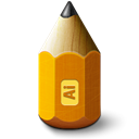 adobe, illustrator, 48, pencil, 1281white0 Black icon