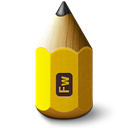 1281white0, adobe, 48, Fireworks, pencil, nazi Black icon