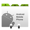 contacts, Android, base, loadavg Gray icon