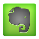 Android, Evernote, base YellowGreen icon