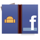 Android, Facebook, base DarkSlateBlue icon