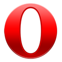 Opera, Android, base, mini Black icon
