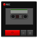 recorder, base Black icon