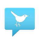 base, twitter, Android, Back LightSkyBlue icon