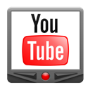 youtube, Android, base Black icon