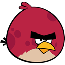 Angry birds, red bird Brown icon