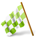 marker, base, flag, chequered, chartreuse, hats, Map, Left Black icon