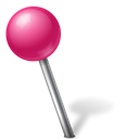 Ball, Map, Left, pink, marker, our, base Black icon
