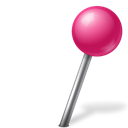 Map, Ball, marker, pink, base, zwitscha, right Black icon