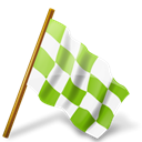 ultimategnome, flag, base, chartreuse, right, chequered, marker, Map Black icon