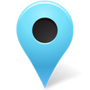 nounproject, base, marker, Azure, outside, Map Black icon