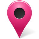 Map, pink, marker, outside, base Black icon
