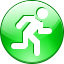 pedestrian, pass, Footer, footpassenger, Escape, scoot, walk, Move, flee, race, Follow, Run, Course, base, Go, foot-slogger LimeGreen icon