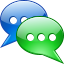 talk, report, base, commune, colloquy, Conversation, announcement, interview, confabulate, sms, prattle, Message, statement, Chatter, dangle, forum, Chat, converse, Communication, Information, gossip Black icon